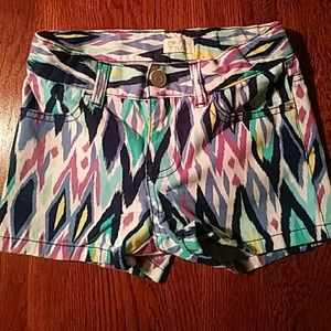 Girls multi colored shorts